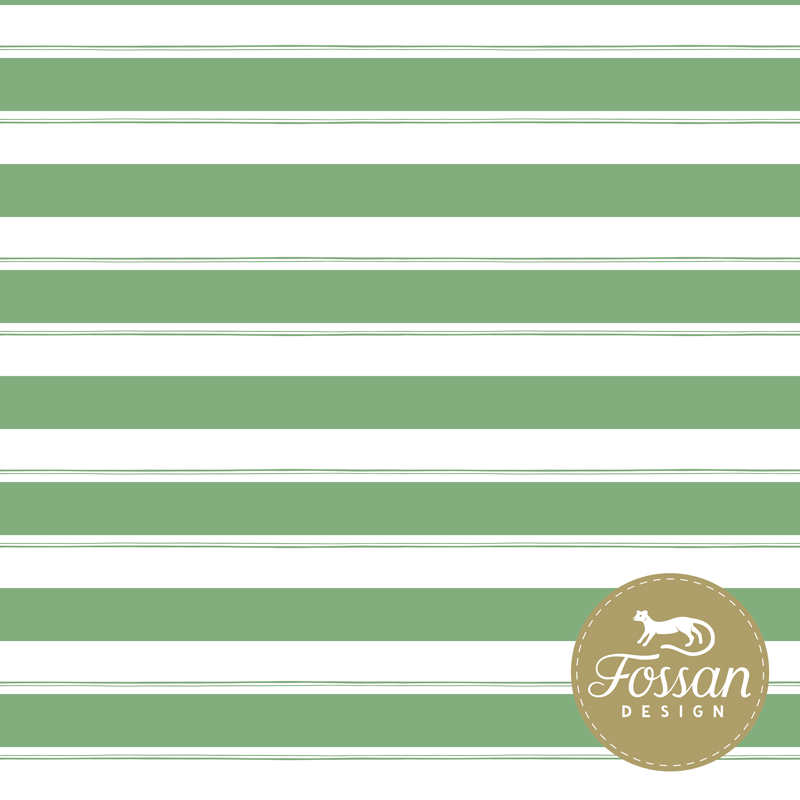Jersey Stripes Forest Green