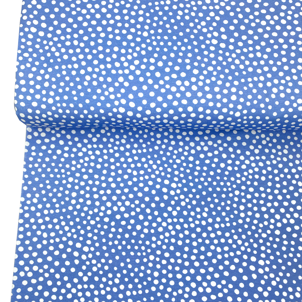 Jersey Stone Dots Placid Blue