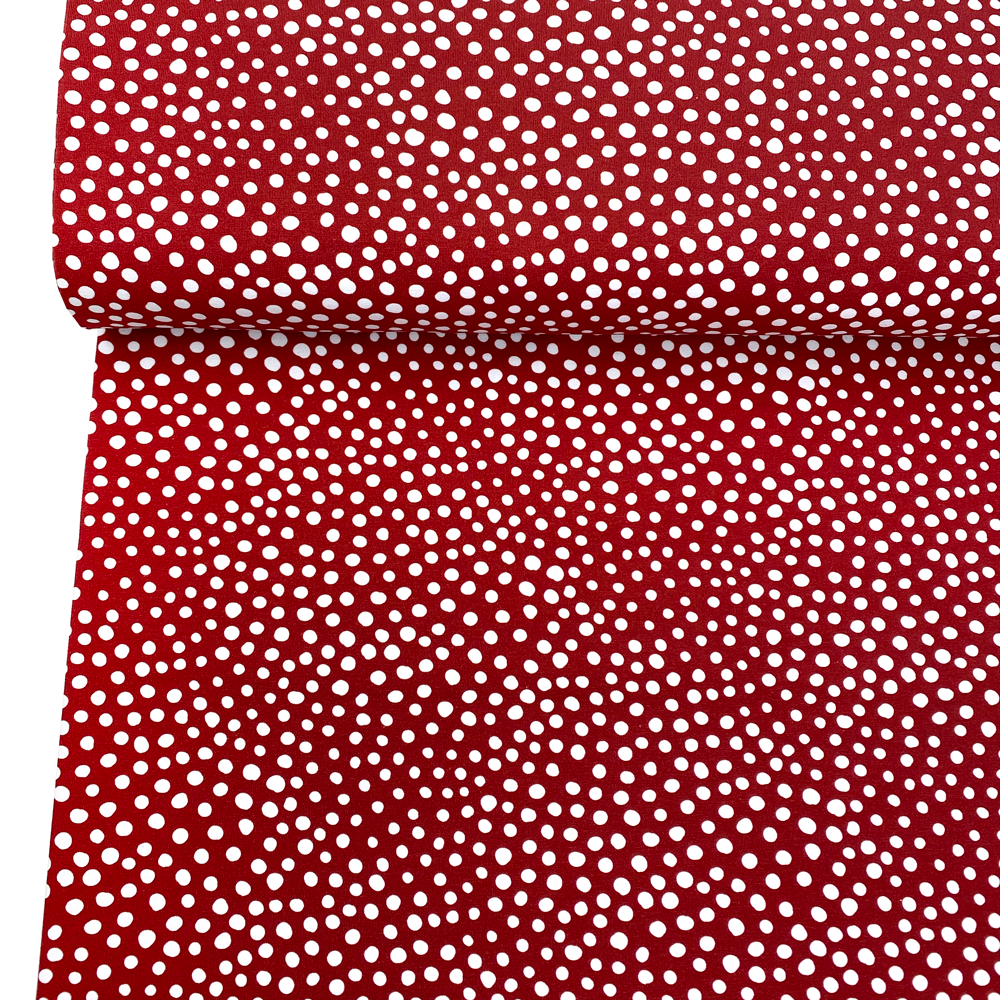 Jersey Stone Dots Red White