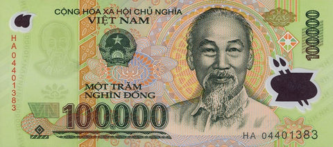 100,000 VND - One Hundred Thousand Vietnam Dong