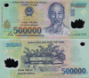 2 x 500,000 VND = 1 Million Vietnamese Dong Banknote