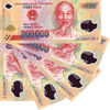 5 x 200,000 VND = 1 Million Vietnamese Dong Banknote