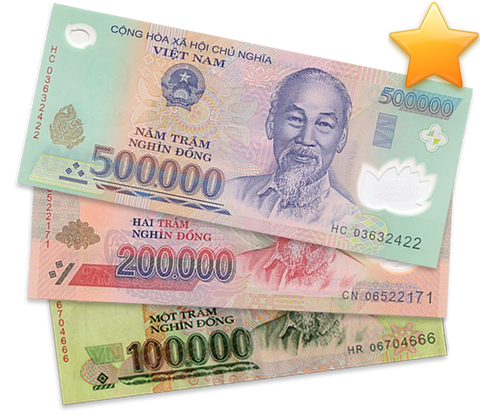 1,000,000₫ - One Million Vietnam Dong