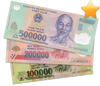 3 variants of Vietnamese Dong Banknote