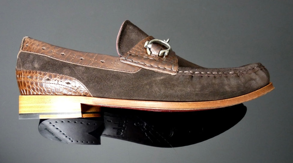 Handcuff Loafer Brown Suede