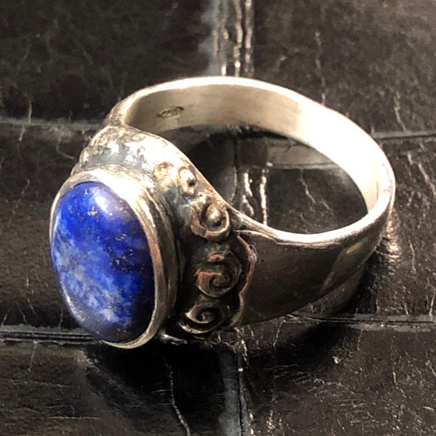 Indian Ring Liscio Lapis
