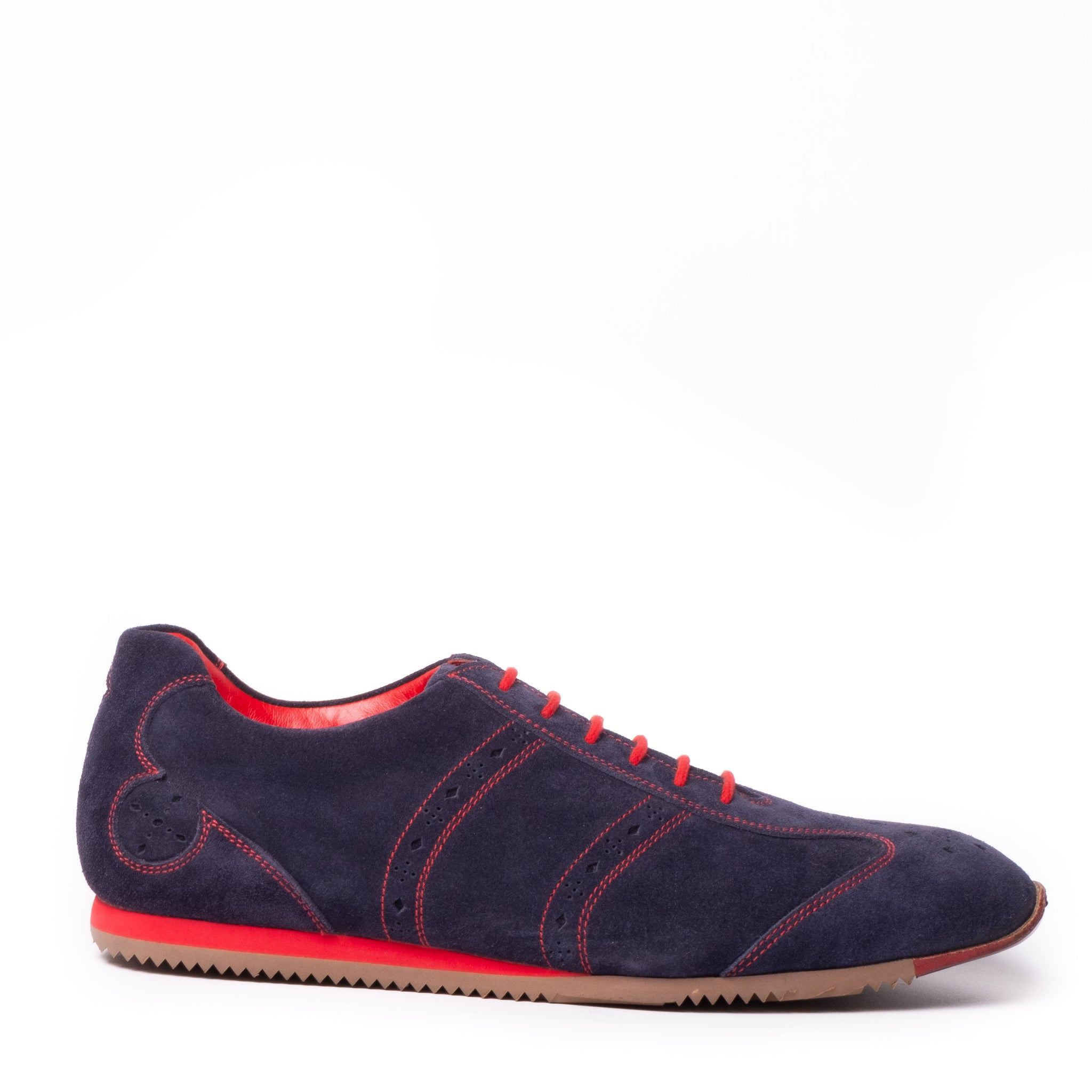 Cavern Modernist Navy Suede