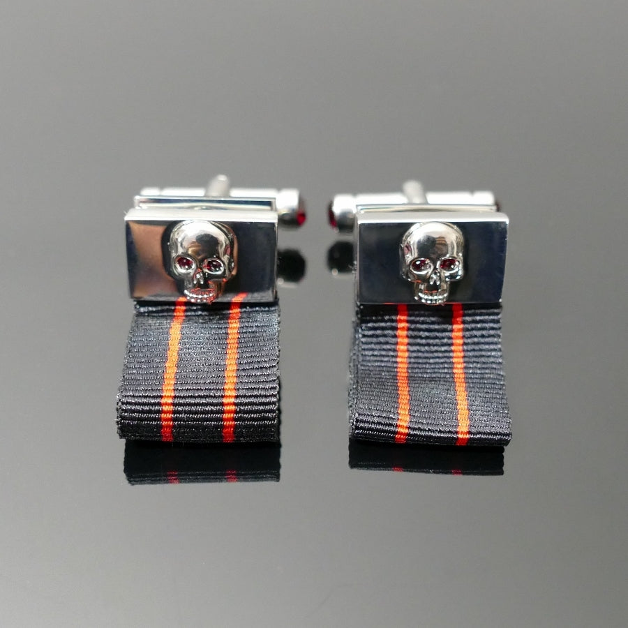 Cufflinks - 'Death Before Dishonor' Silver