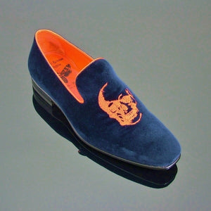 Insane Velvet House Shoe - Navy