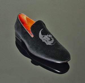 Insane Velvet House Shoe - Black