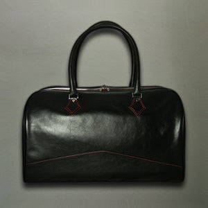 Overnighter Bag - Italian Black Calf