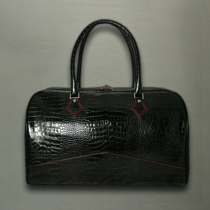 Overnighter Bag - Italian Black Croc