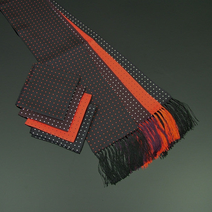 Polka diamond scarf and pocket square