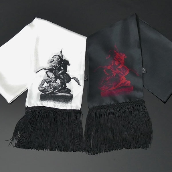 St. George and the Dragon scarf and pocket square set