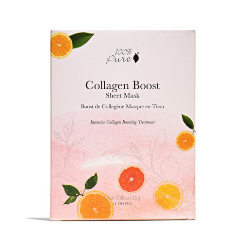 100% Pure  - Sheet Mask - Collagen Boost