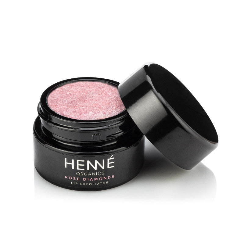 Henné Organics - Rose Diamonds Lip Exfoliator - Clementine Fields - 1