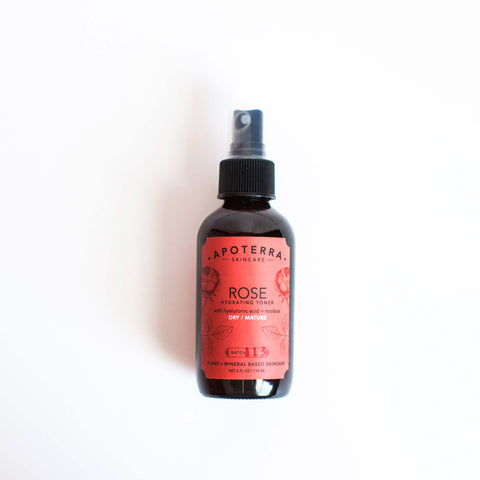 Apoterra Skincare - Rose Hydrating Toner with Hyaluronic Acid + Rooibos