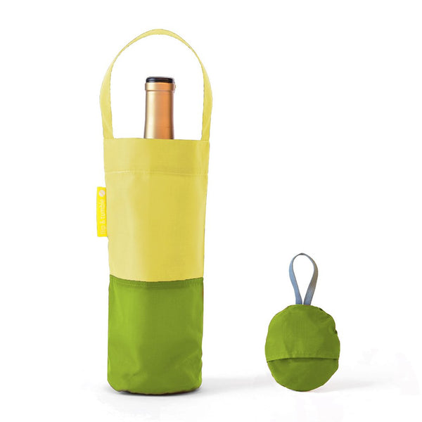 Flip & Tumble - Pea Green Wine Bag