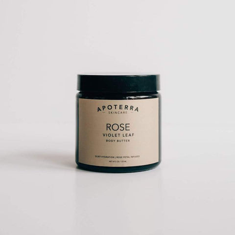 Apoterra Skincare - Rose + Violet Leaf Body Butter
