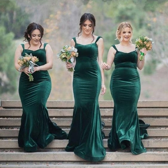 Dark-Green Bridesmaid Dress
