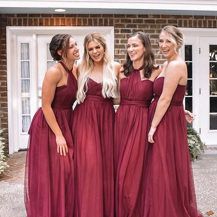 Tulle bridesmaid dresses cheap