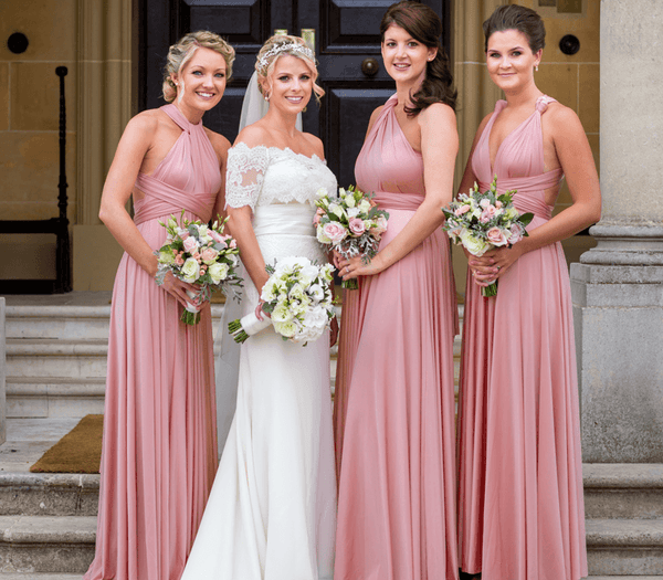 Dusty Rose Infinity Bridesmaid Dresses