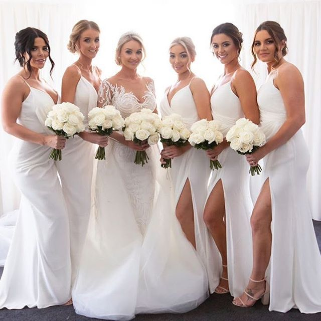 cheap white bridesmaid dresses