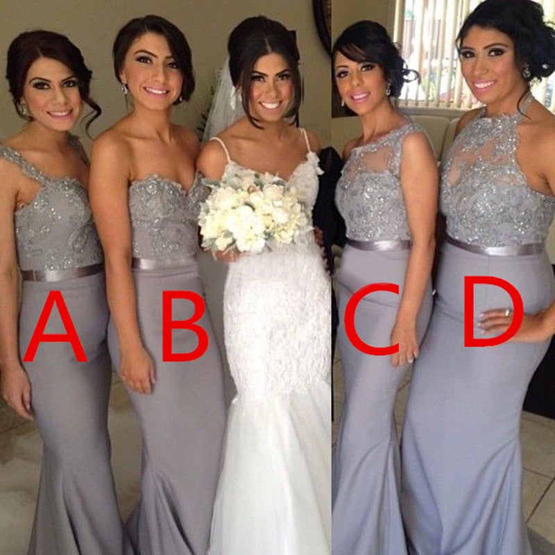 lace applique bridesmaid dresses