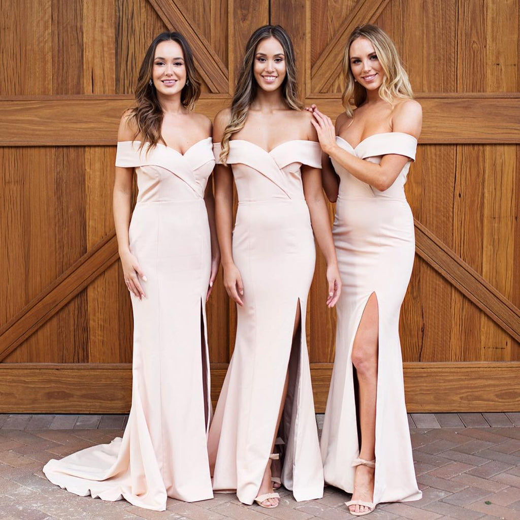 Sexy Long Mermaid Sweetheart Off the Shoulder Bridesmaid Dresses