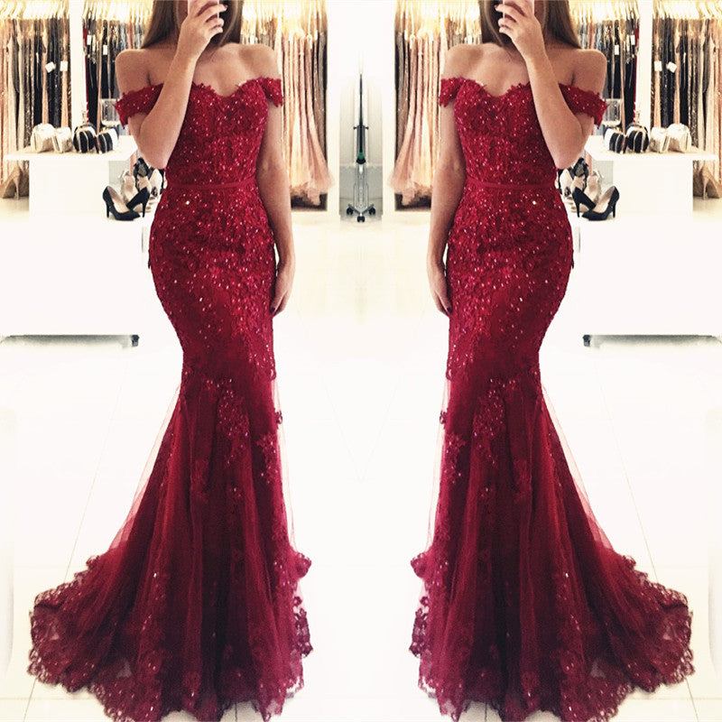 lace burgundy dress