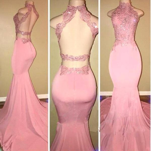 Pink evening gowns
