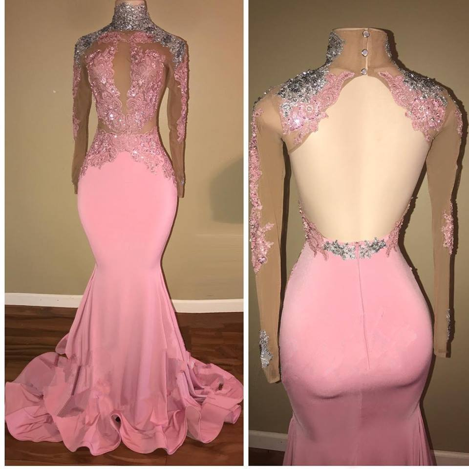 Pink Lace Formal Dresses