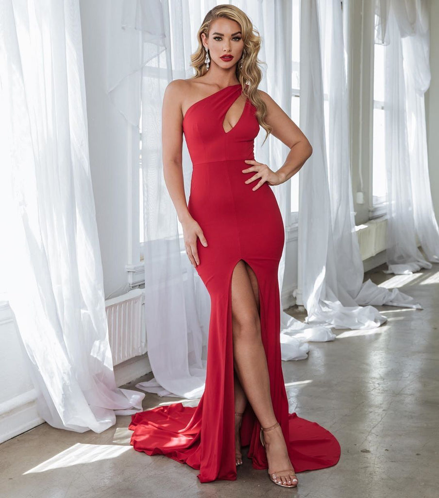 red prom evening dresses