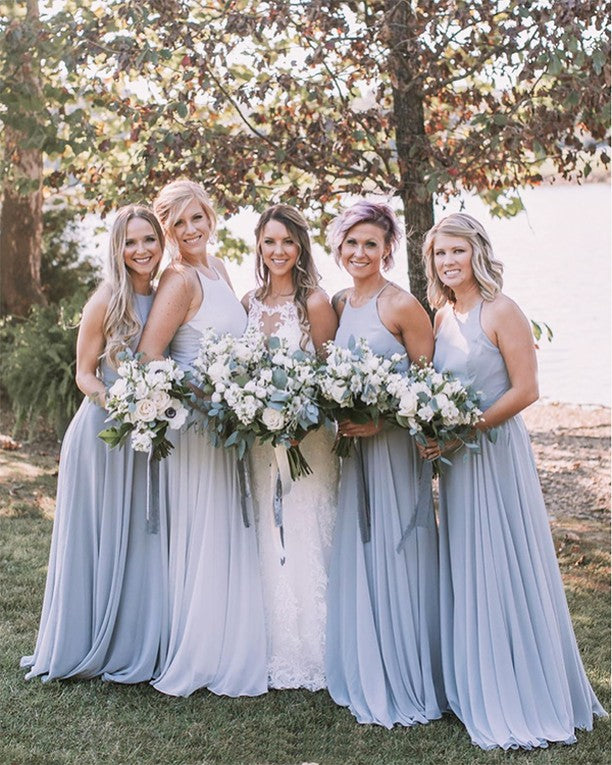 mist bridesmaid dresses