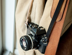 leather camera strap, handmade leather camera straps, camera straps