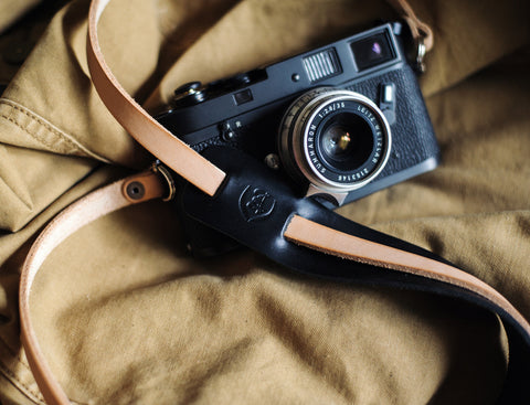 L E G A C Y leather camera fixed length neck/shoulder strap - Porter
