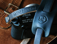 leather camera strap_black
