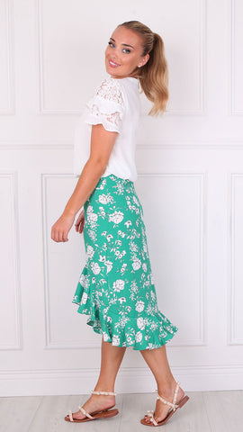 Easy Floral Green Pants By Vero Moda