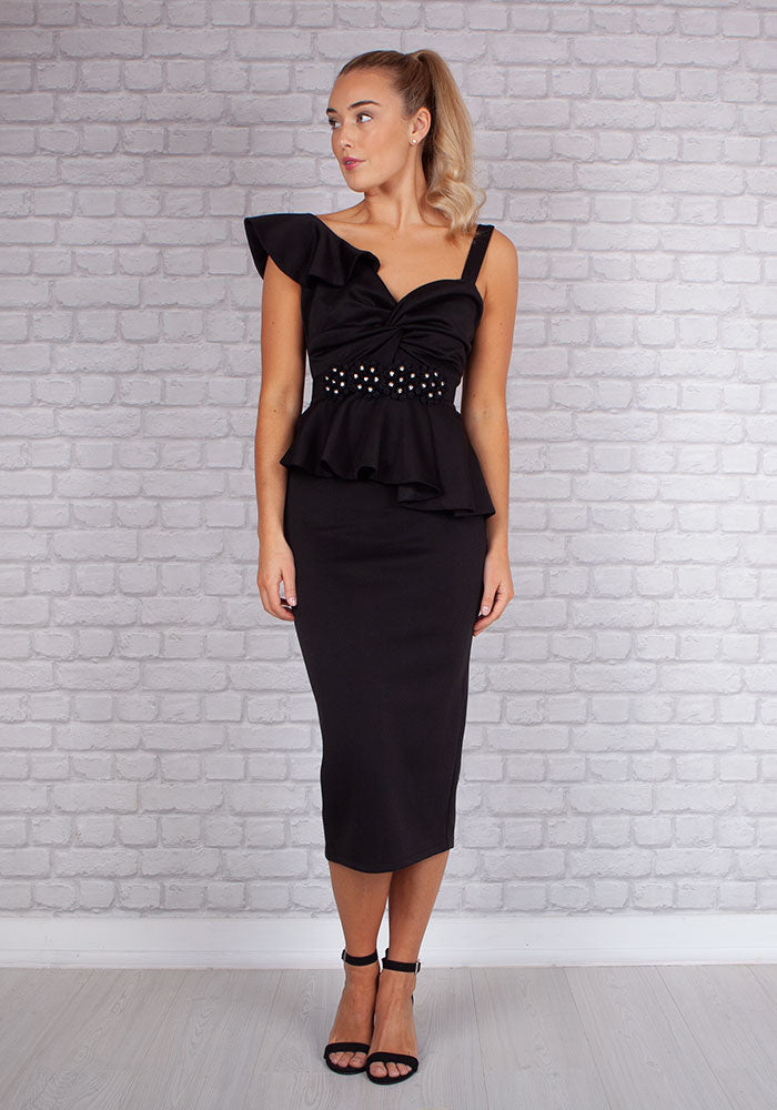 Evie Co-Ord 2 Piece Set in Black by So Amazing
