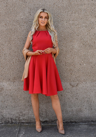 Gabi Swing Dress by Marc Angelo in Red