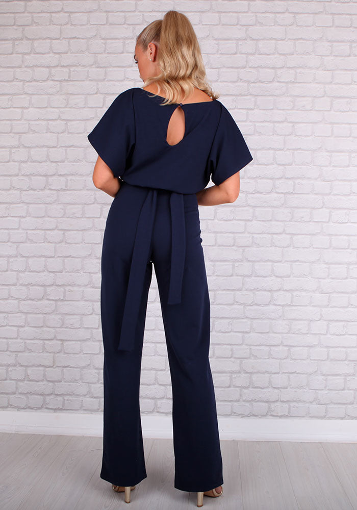 Sofie Batwing Jumpsuit in Navy