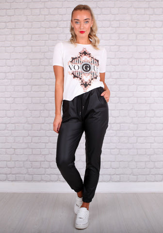 Lill Leatherette Joggers