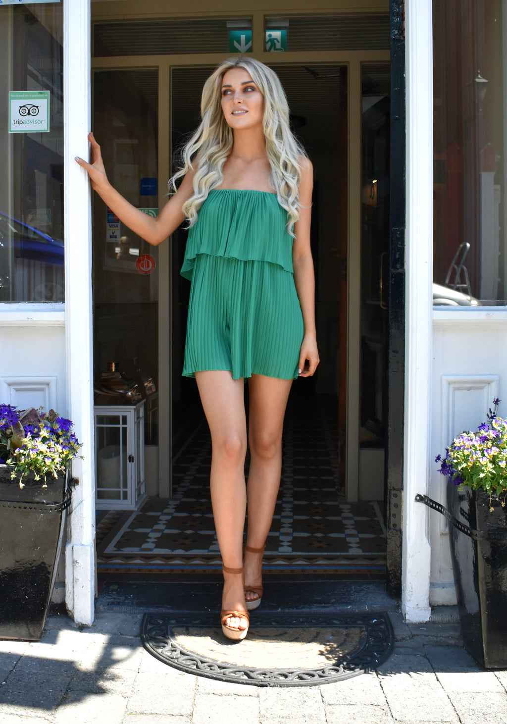 Ellen Pleat Playsuit