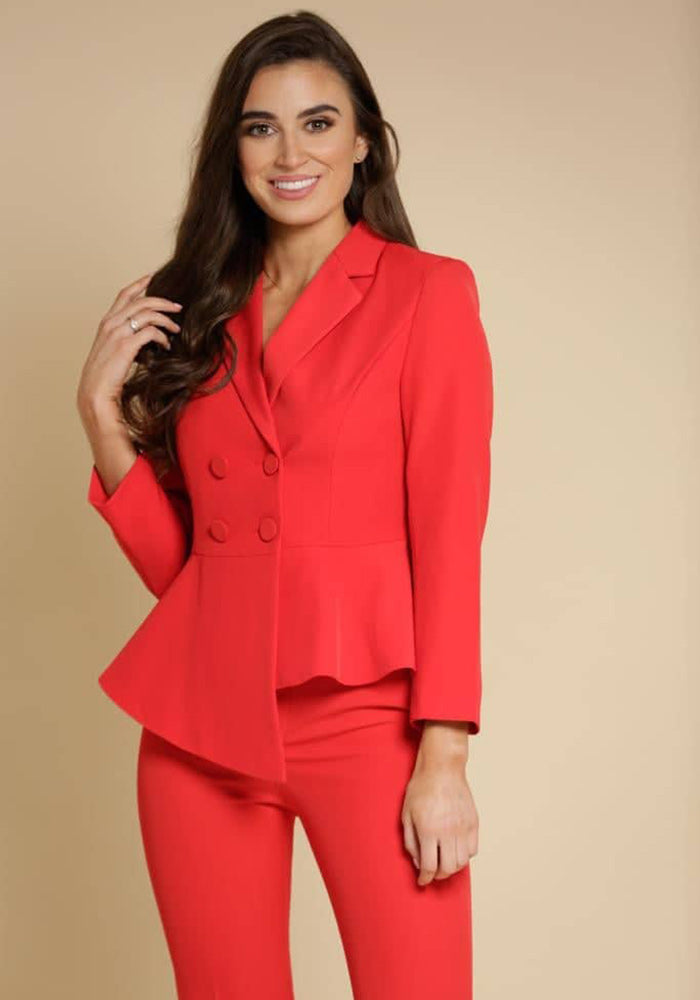 Freya Button Up Suit in Red by So Amazing