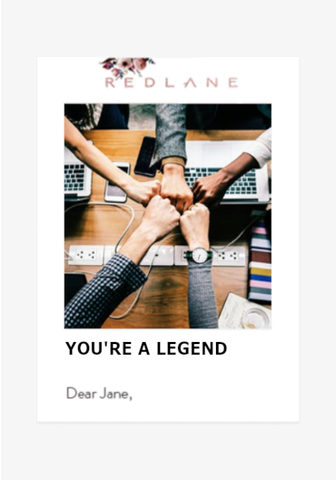 YOU'RE A LEGEND!-Gift Card-Redlane.ie