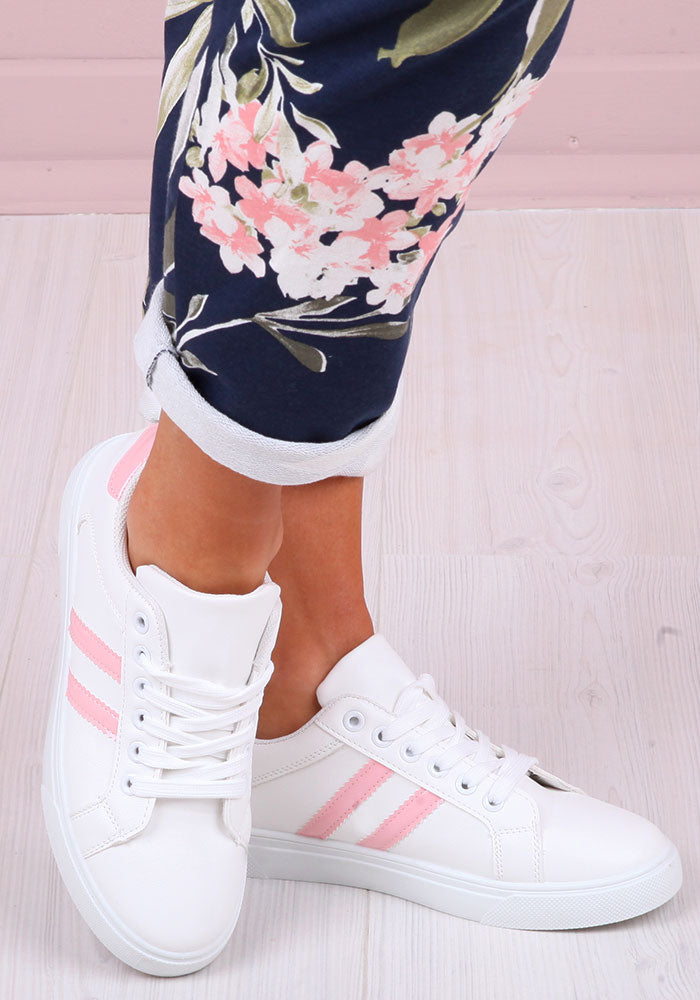 Luna Stripe Trainers in Pink