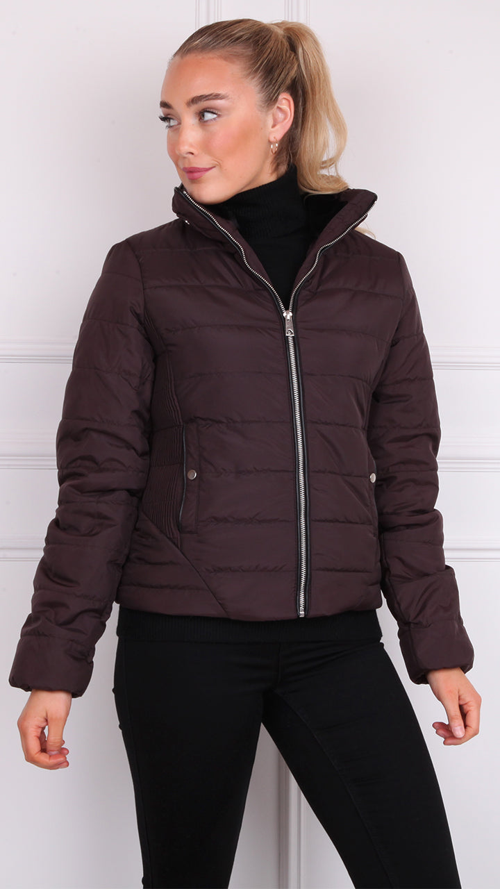Clarissa Padded Jacket by Vero Moda in Chocolate Plum