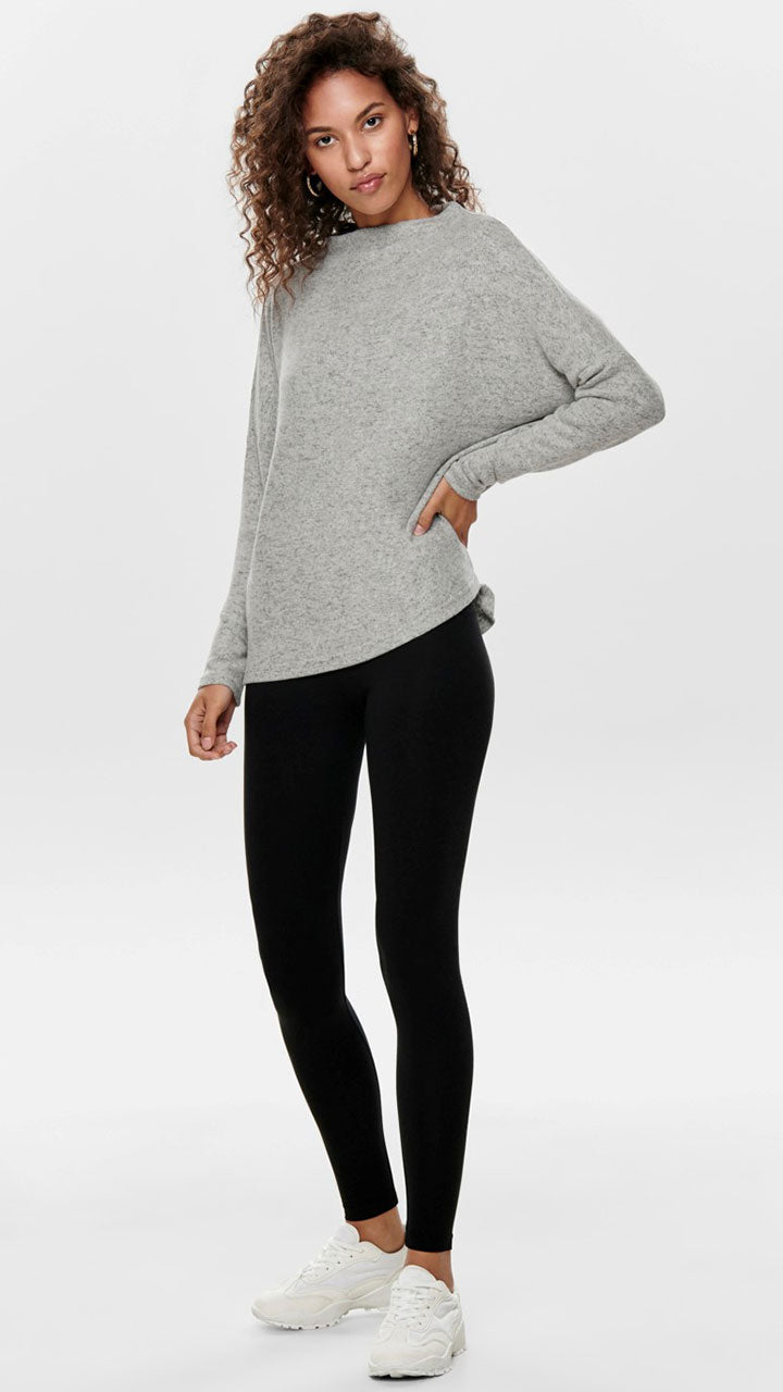 Live Love Life Cotton Stretch Black Leggings by Only Jeans