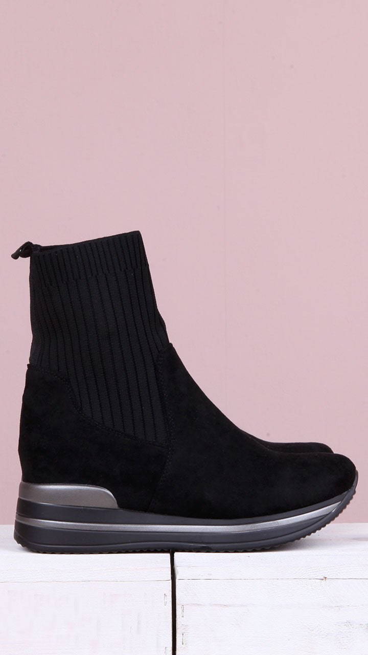 Martha Sock Boots in Black