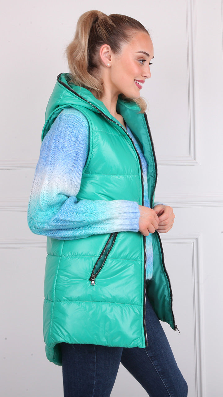 Maura Padded Gilet in Green